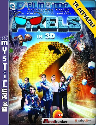 Pixels 3D (2015) ( BluRay m1080p 3d) Türkçe Altyazılı 3 boyutlu film indir