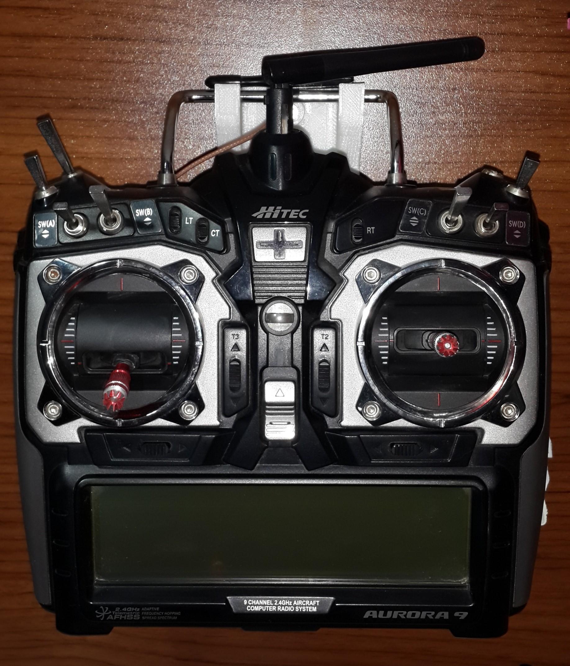 Hitec Aurora 9x için 3d yazılabilir askı-tutucu