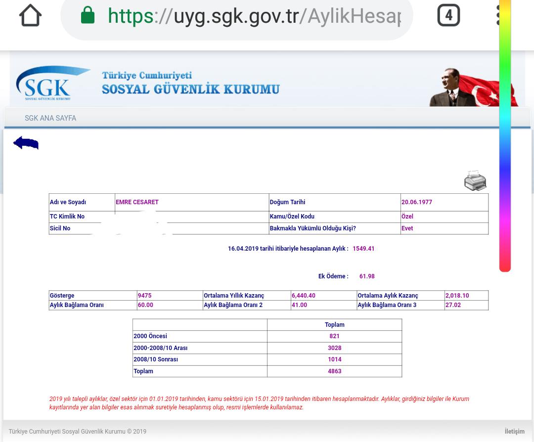 8aqqWW - SGK sitesinden emekli maaşı hesaplatma