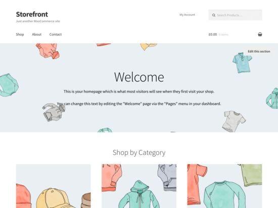 storefront wordpress teması