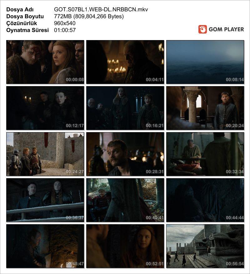 Game of Thrones 7. Sezon 1. Bölüm (Türkçe Altyazı) WEB-DL H.264