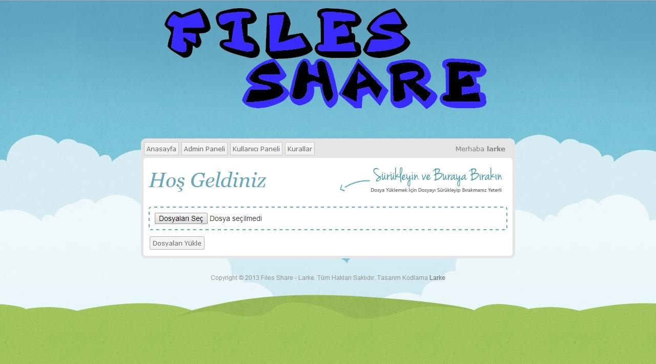 Larke File uploader script V3