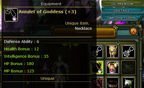 +3 Amulet Of Goddes