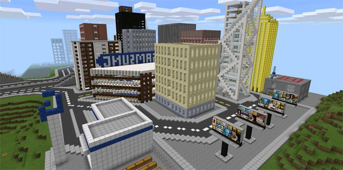 Скачать карту на огромный город для майнкрафт 1.7.10