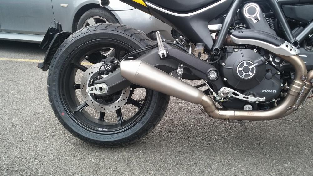 Custom Leovince Gp Exhaust Installed Ducati Scrambler Forum