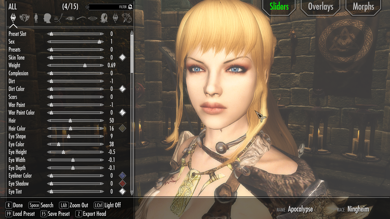 Character Face problem(In-Game/Showracemenu) - Skyrim Mod