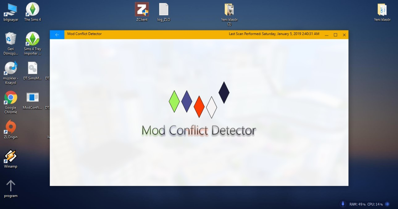 mod conflict detector ekranda takılı kaldı - Sim Dünyası ~ The Sims