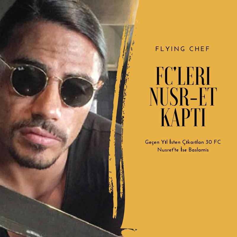 Nusret'te işe başlayan flying chef