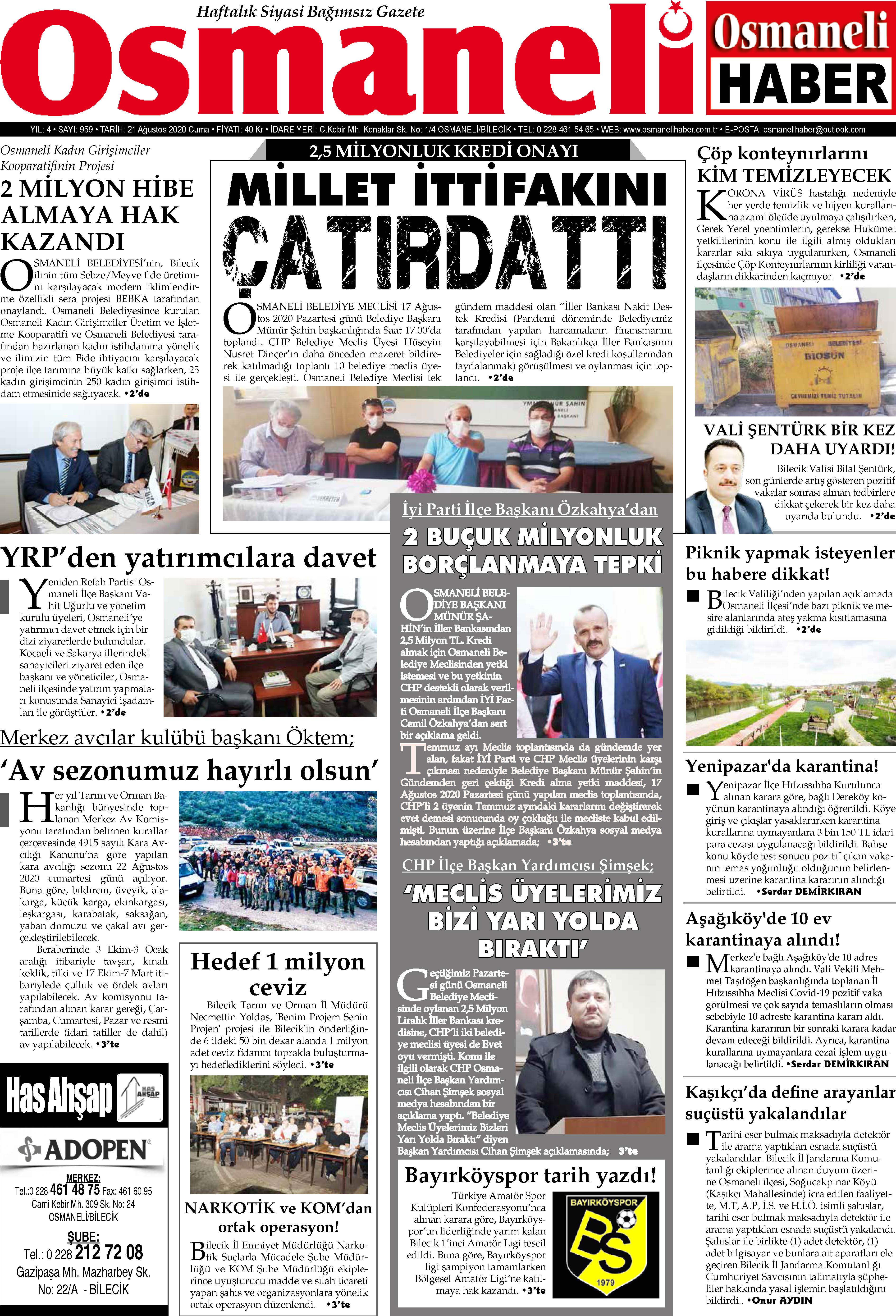 Osmaneli Haber Gazetesi Gazetesi