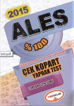 Yediiklim Ales Çek Kopart Test