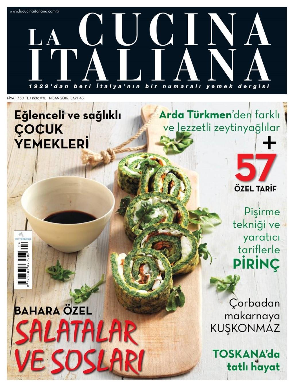 La Cucina İtaliana Nisan 2016 Pdf E-Dergi indir