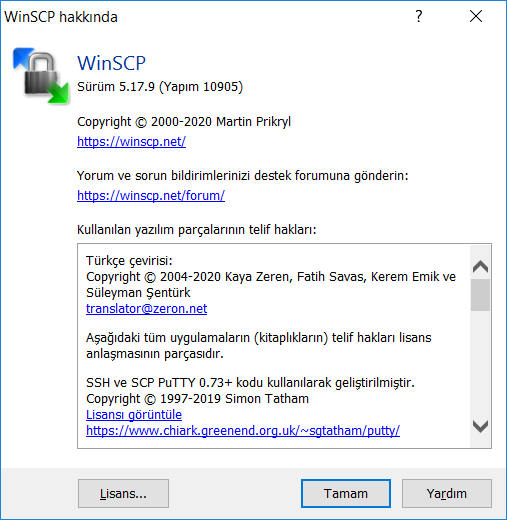 WinSCP 5.17.9 | Katılımsız