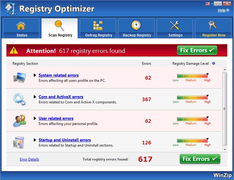 WinZip Registry Optimizer Full