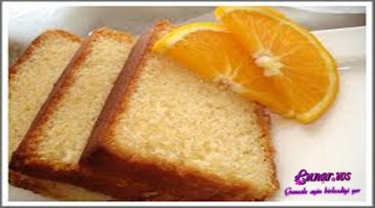 Portağallı keks resepti
