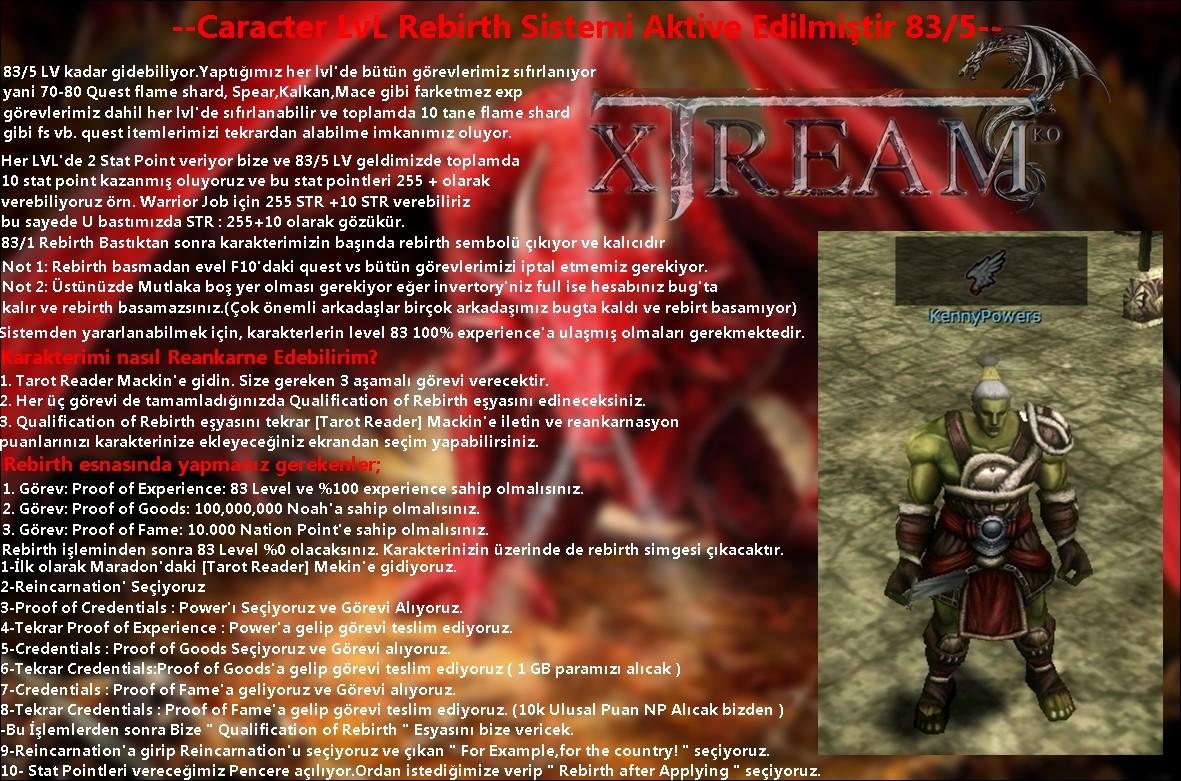 XTREAMKO.COM [V20XX FARM ''ASIA''SUNUCU] H�LE YOK BETA 30HAZ�RAN 21:00 CARACTER LV REB�RTH AKT�f
