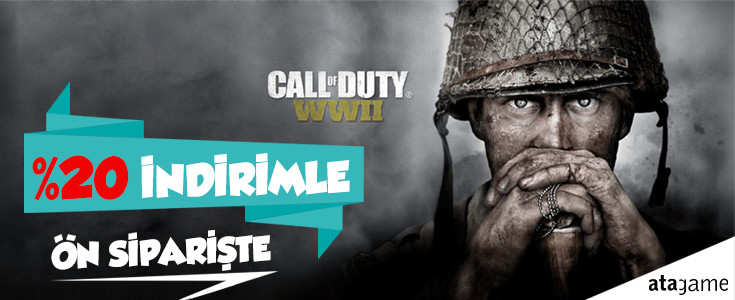 "Call of Duty 2017 World War II ""COD WWII"" Ön Siparişte !!!!"