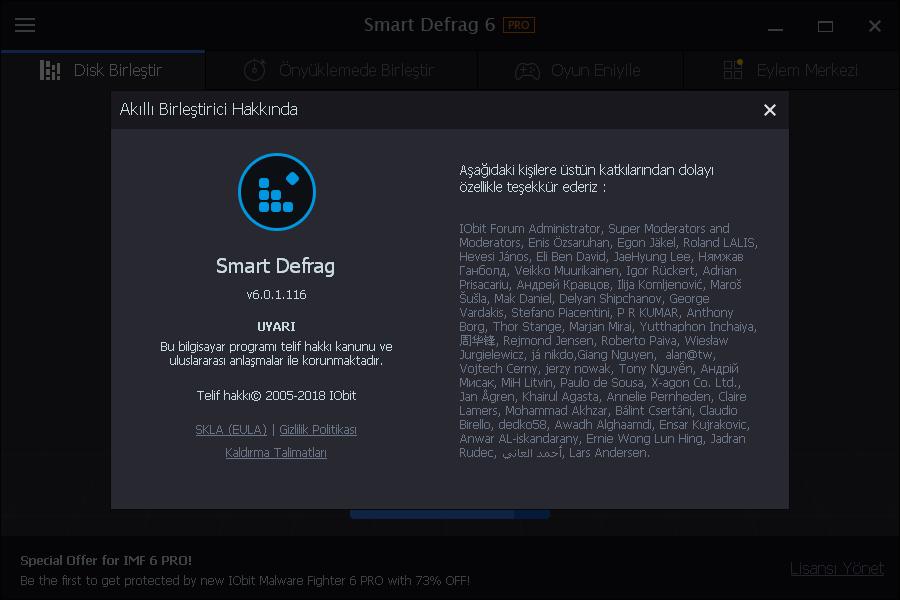 IObit Smart Defrag Pro 6.3.5.189 | Katılımsız
