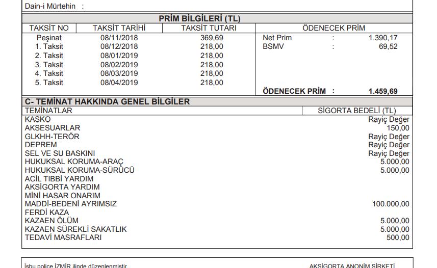 AObVLr - Engelli statüsünde ÖTV'siz alınan araçlarda Kasko uygulaması hakkında tecrübeleriniz?