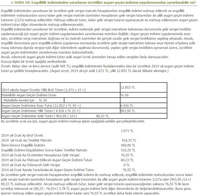 AYPJgQ - % 78 sakatl�k oran�nda ikinci derece vergi indiriminin maa�a katk�s� ka� tl olur?