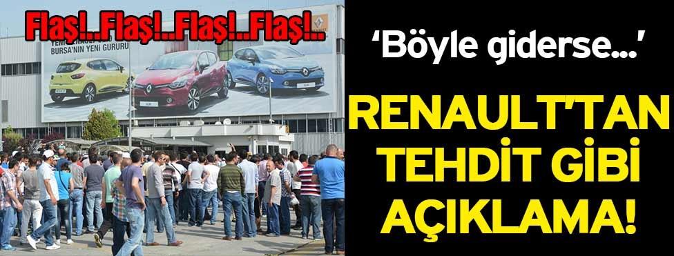 Renault'tan tehdit gibi a��klama