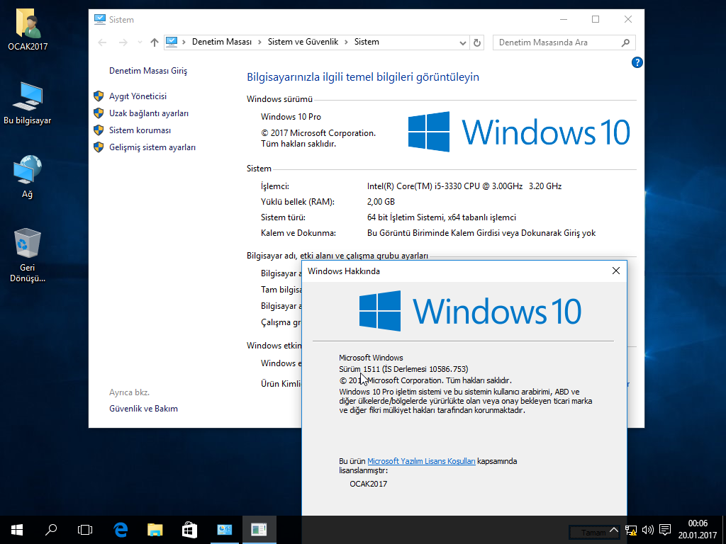 Windows 10 Th2 1511 10586.753 | 3 In 1 | Uefi | 2017 Ocak