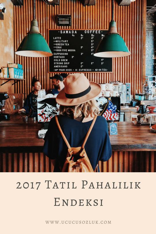 2017 Tatil pahalılık endeksi