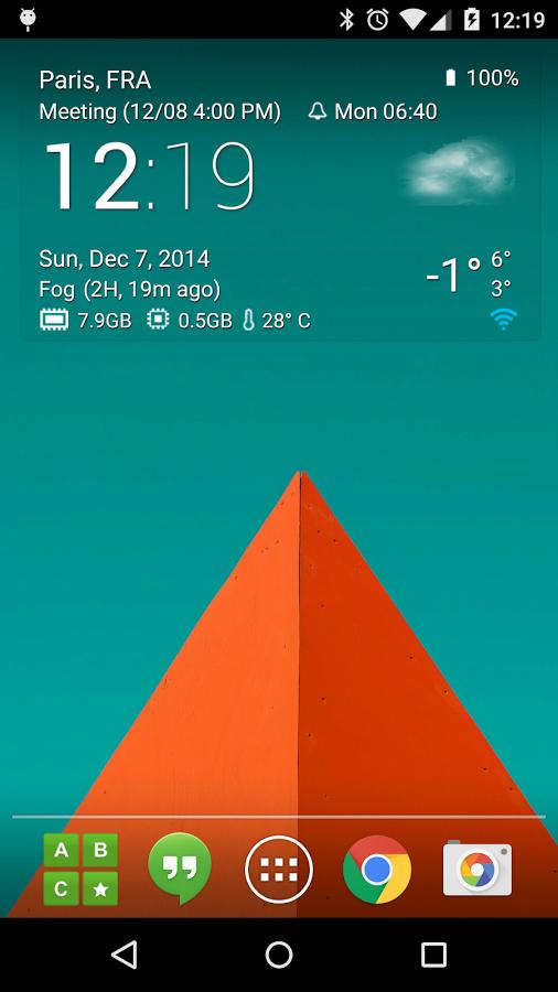 Transparent clock weather Pro Full