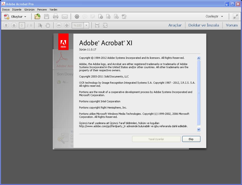 Adobe Acrobat XI Pro 11.0.17 TR | Katılımsız