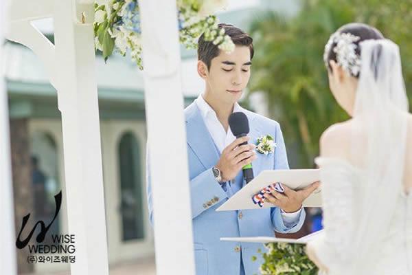 """""""Filimden Bir Sahne Gibi…"""" Shin Sung-Rok, Hawaii'de Evlendi + Düğün Töreninden Görüntüler [Fotoğraf]"""