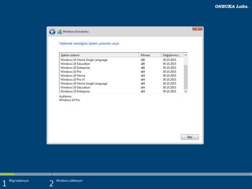 Windows 10 Version 1511 AIO 10586.420 - Türkçe
