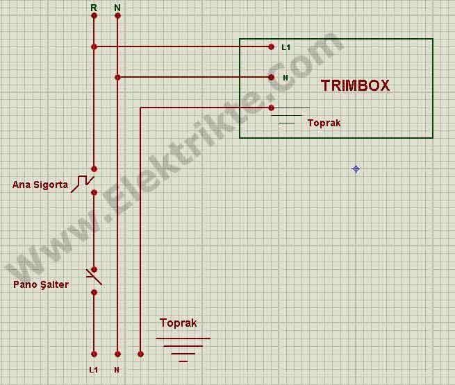 monofaze trimbox baglantisi