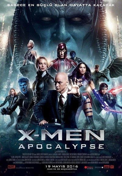 X-Men : Kıyamet – X-Men: Apocalypse | 2016 | BRRip XViD | Türkçe Dublaj - Tek Link indir