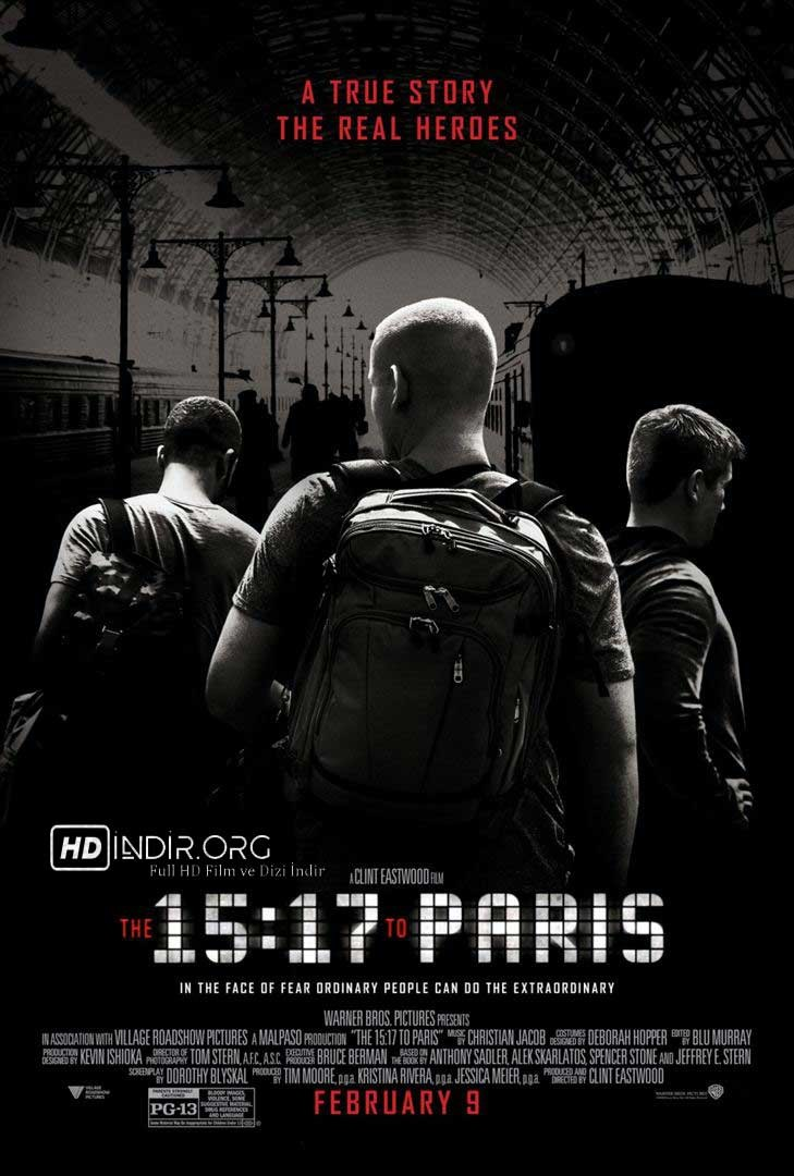 15:17 Paris Treni - The 15:17 to Paris (2018) DUAL TR ENG m1080p Ücretsiz indir