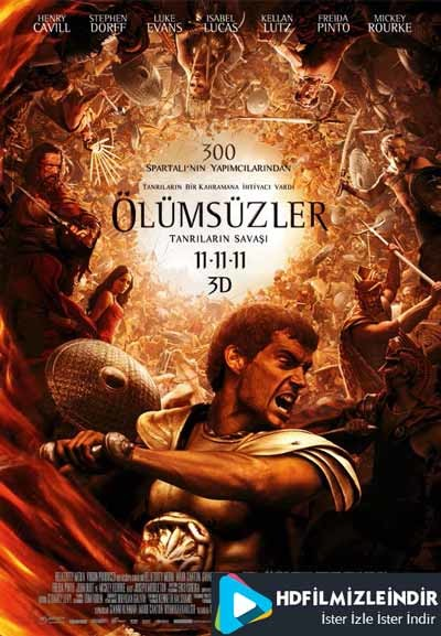 Ölümsüzler - Immortals (2011) Türkçe Dublaj İzle İndir Full HD m1080p Tek Parça