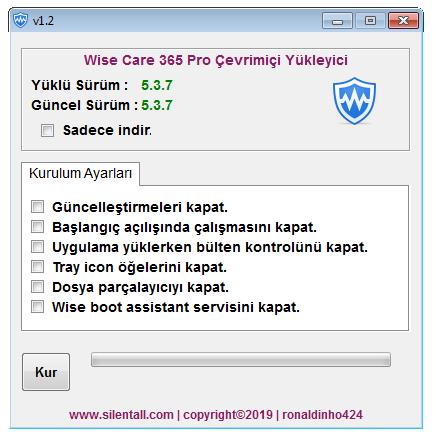 Wise Care 365 Pro Çevrimiçi Yükleyici v1.2