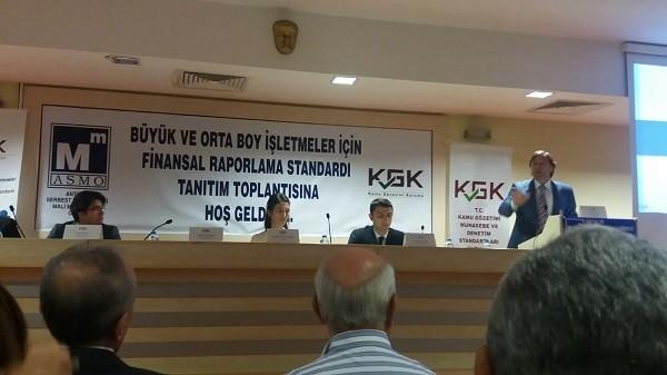 Kamu Gözetim Kurumu ; Antalya SMMM Odasında Büyük ve Orta Boy İşletmeler İçin Finansal Raporlama Standardı Konulu Toplantı Düzenledi.