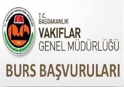 T.C. Başbakanlık Vakıflar Genel Müdürlüğü Burs Duyurusu