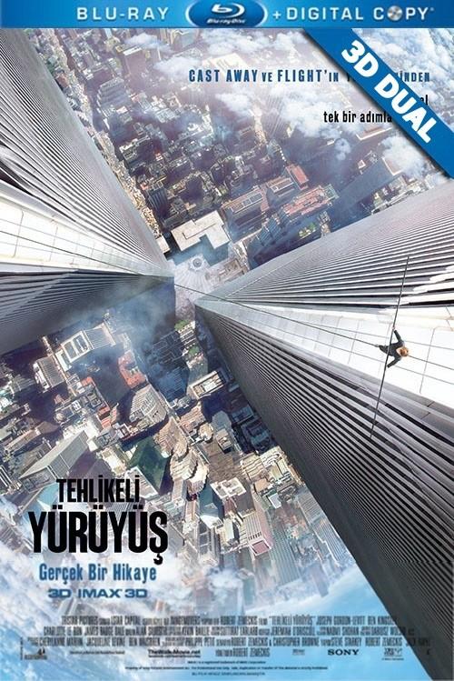 Tehlikeli Yürüyüş 3D - 3D The Walk | 2015 | 3D Half-SBS BluRay 1080p | DuaL TR-EN - Tek Link