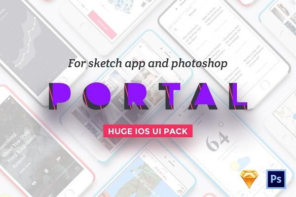 Portal UI Pack-Photoshop Psd