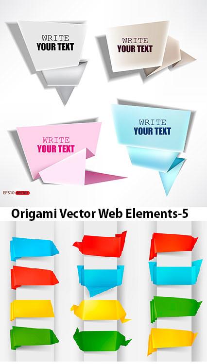 Origami Vector Web Elements
