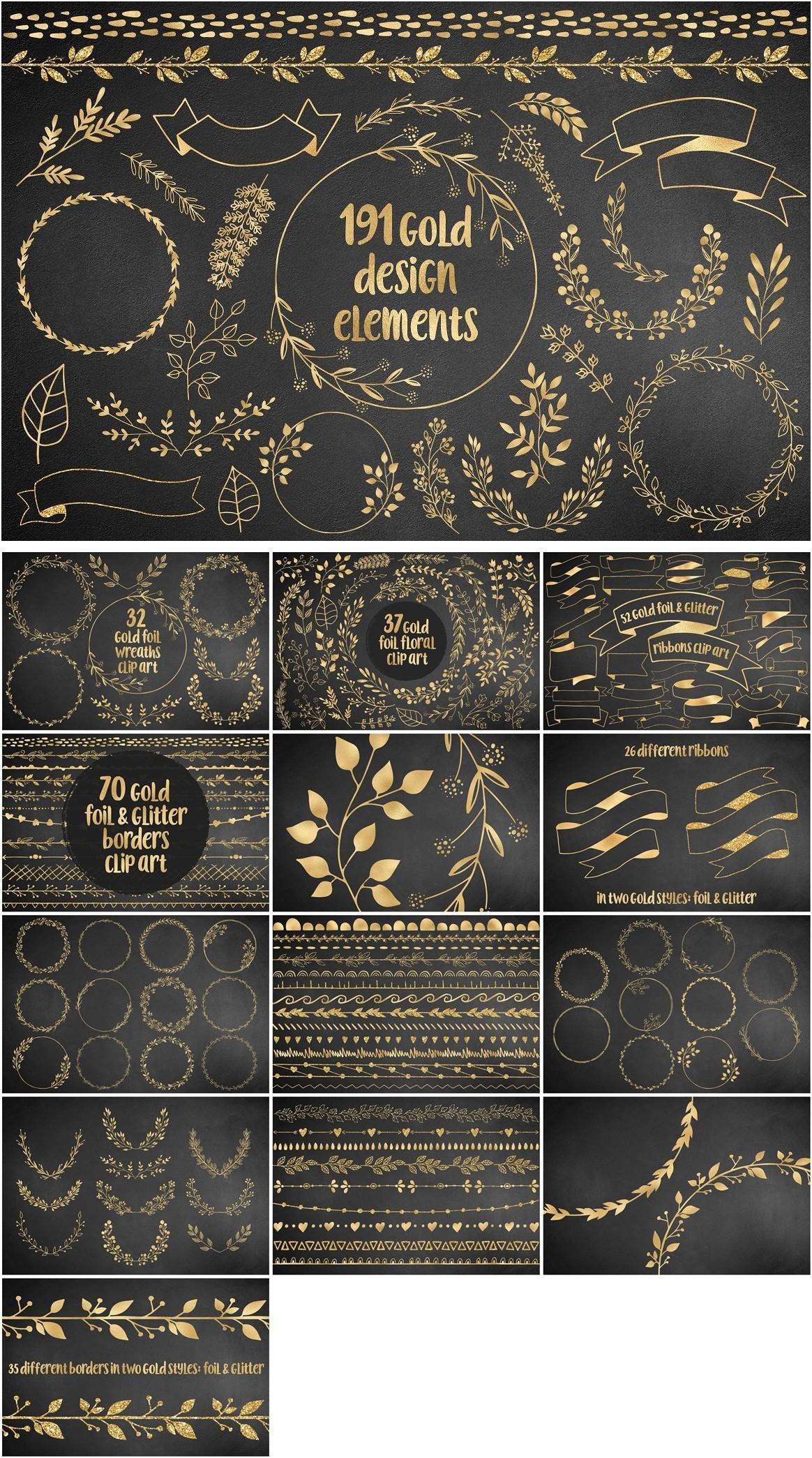 191 Altın Tasarım elementleri