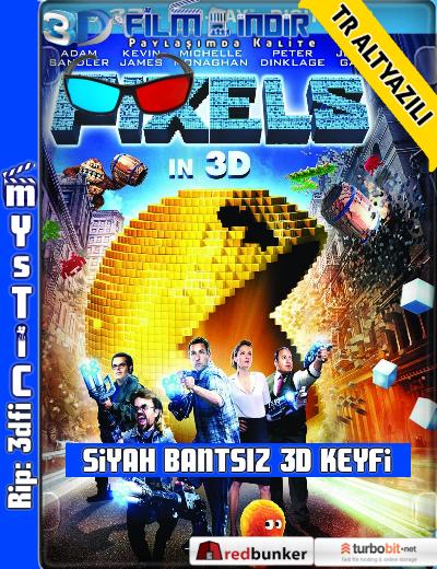 Pixels 3D (2015) ( ANAMORPHIC Siyah Bantsız BluRay m1080p 3d) Türkçe Altyazılı 3 boyutlu film indir