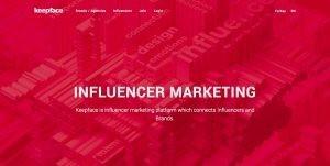 keepface influencer marketing platform