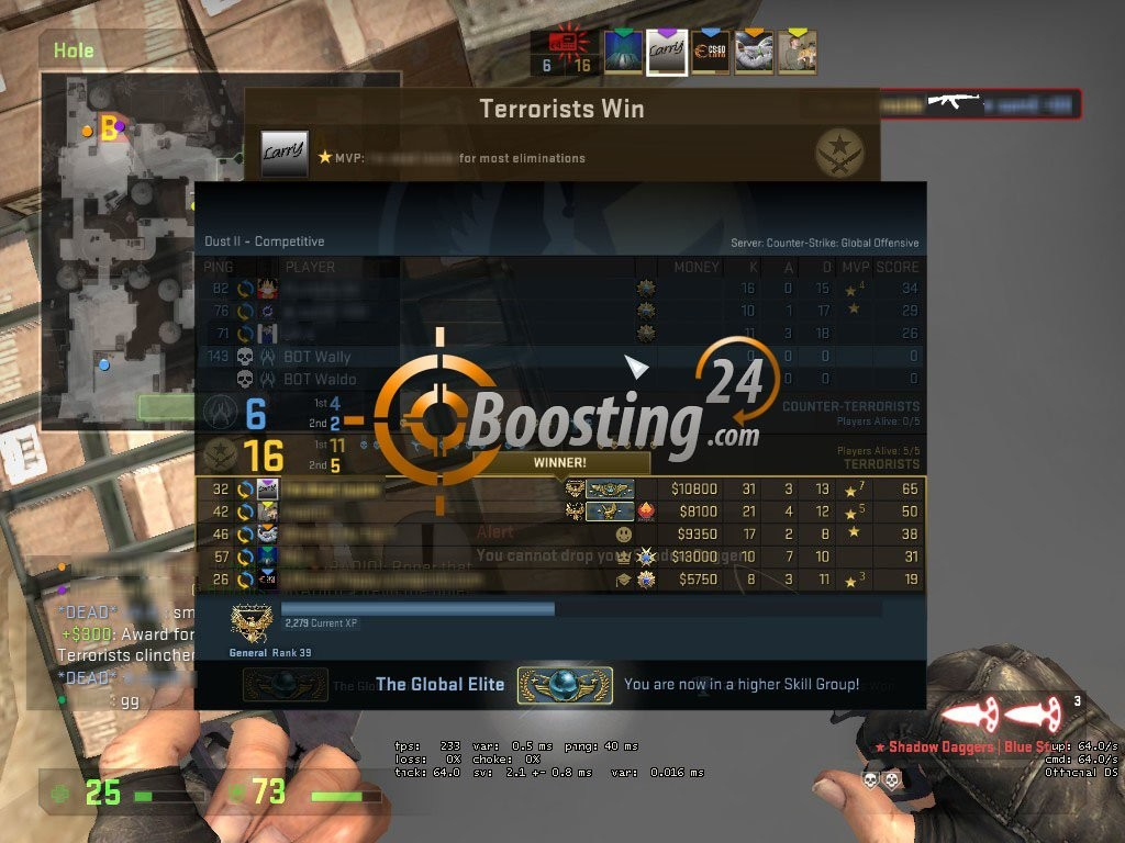 CSGO RANK BOOSTED