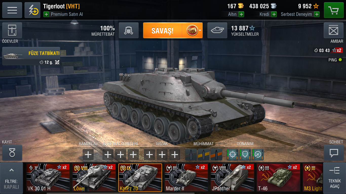 Kpfpz 70 Gameplay - Gameplay - World of Tanks Blitz official