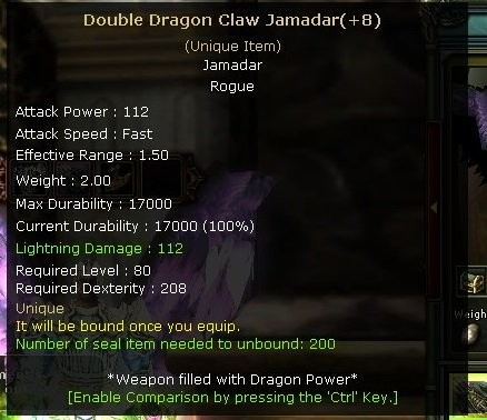 +8 DOUBLE DRAGON CLAW JAMADAR