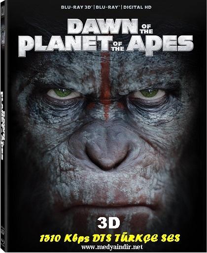 Maymunlar Cehennemi: Şafak Vakti 2014 3D HSBS 1080p Bluray x264 Türkçe Dublaj Kota Dostu