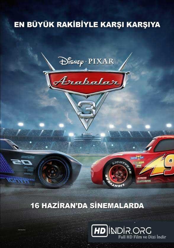 Arabalar 3 - Cars 3 (2017) Türkçe Dublaj HD Film indir
