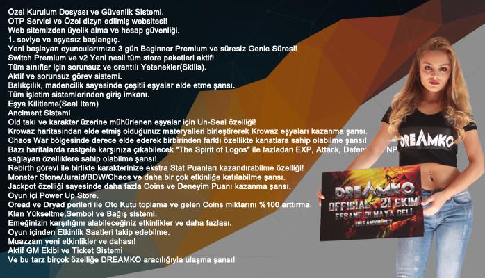 DreamKO ▌v.2xx - Hiç bir Oyunda olmayan Etkinlikler! Bildiklerini unut! Dragon Box Utc Yok! 21 Ekim!