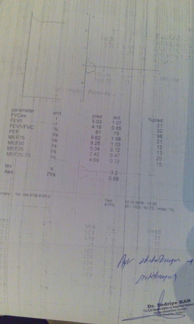 E3L6QB - Sol akciğerim çalışmıyor. Hangi oranda rapor verilir?